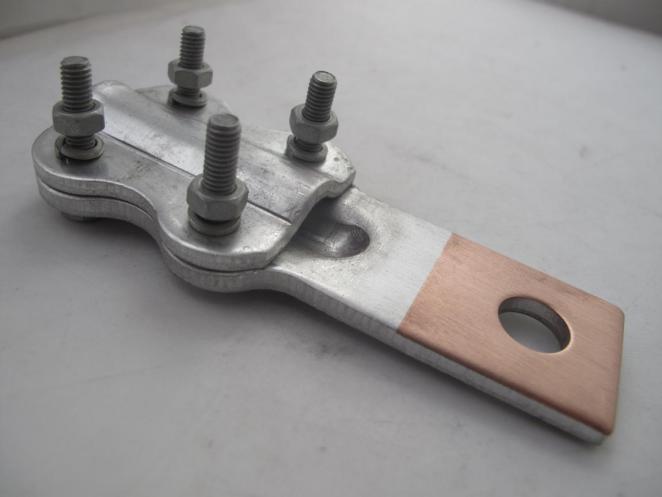 Bi Metal Transition Terminal Clamps Copper Aluminum Clad