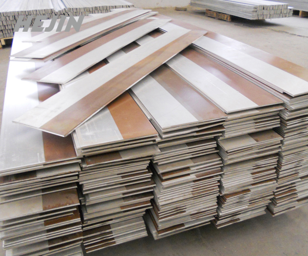 Copper clad metal plate is used in the construction industry